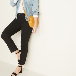 Old Navy Black Jeans Straight Ankle Power Jean